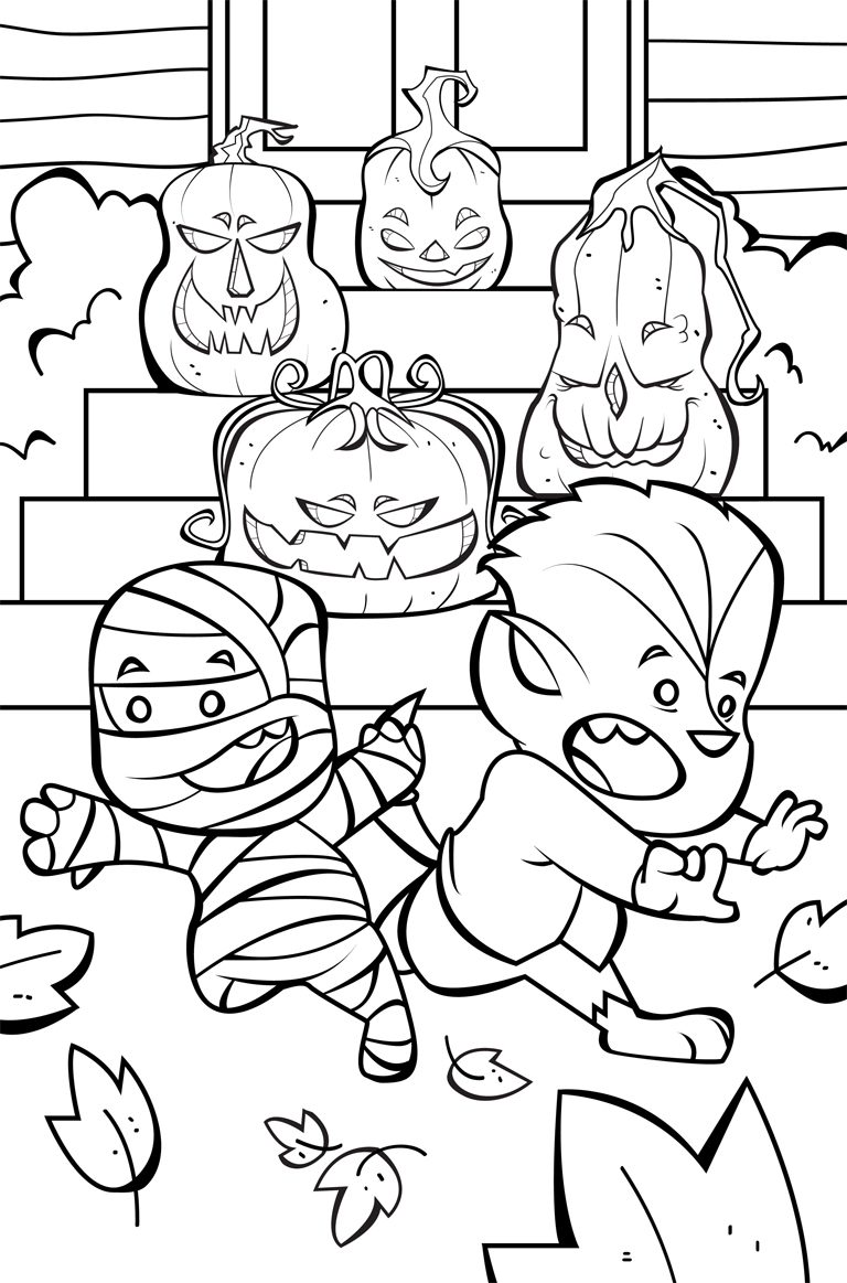 Halloween Coloring Pages From FarFaria