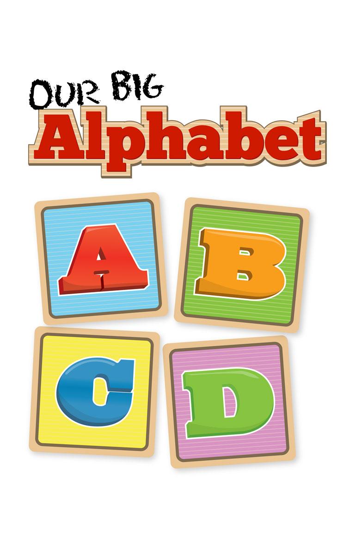 Large Abc Letters White Black: Our Big Alphabet
