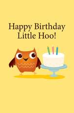 Happy Birthday Little Hoo